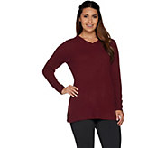 As Is Isaac Mizrahi Live! 2-Ply Cashmere V-neck Tunic Sweater - A307915