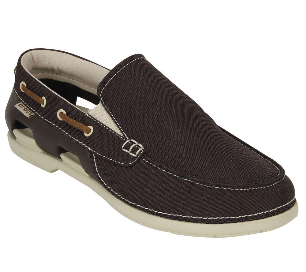 crocs s line slip on boat shoes qvc