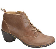 Softspots Lace-up Leather Ankle Boots w/ SiideZip - Sofi - A334515