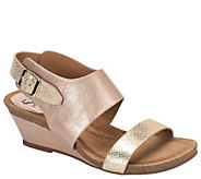 Sofft Leather Wedge Sandals - Vanita - A335815