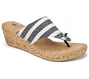White Mountain Espadrille Thong Wedge Sandals -Beachball - A336515