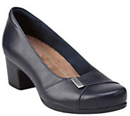 Clarks Artisan Slip-on Leather Pumps - RosalynBelle - A341215