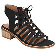 Comfortiva Lace Up Leather Sandals - Blossom - A364415
