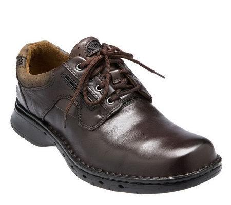 clarks unstructured s quot un ravel quot leather lace up shoes