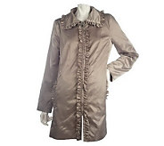 Dennis Basso Water Resistant Jacket with Ruffle Trim - A214216