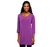 Susan Graver Essentials Liquid Knit 3/4 Sleeve Tunic - A215716