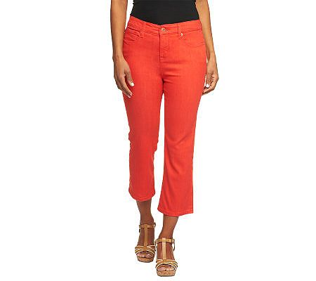 Isaac Mizrahi Live! Icon Marilyn Crop Denim Jeans
