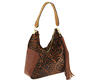 G.I.L.I Haircalf and Leather Hobo with Zipper - A252216