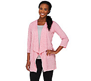 Lisa Rinna Collection 3/4 Sleeve Draped Cardigan - A253216