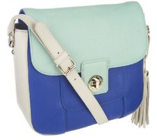 Isaac Mizrahi Live! Bridgehampton Color-Block Shoulder Bag