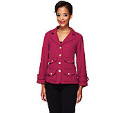 Joan Rivers Perfectly Tailored Knit Jacket w/ Bracelet Sleeve - A256516