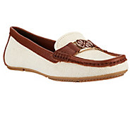 As Is Isaac Mizrahi Live! Canvas Moccasins with Leather Trim - A262416