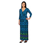 Attitudes by Renee Petite Printed Jersey Knit Wrap Maxi Dress - A262516