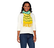 ED On Air Stripe Scarf with Fringe Design by Ellen DeGeneres - A264716