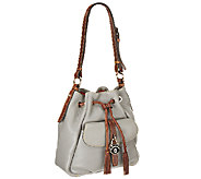 As Is Dooney & Bourke Samba Leather Drawstring Bag - A265716