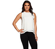 Whitney Port Double Layer Woven Tank - A267216