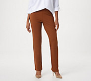 Linea by Louis DellOlio Regular Pull-On Ponte Knit Pants - A268216