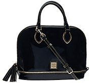 Dooney & Bourke Highland Holiday Patent Zip Zip Satchel - A272216