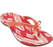 Vionic Orthotic Thong Sandals with Bow Detail - Bella Ikat - A275616