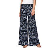 Lisa Rinna Collection Regular Ikat Printed Palazzo Pants - A277016