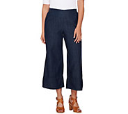 Attitudes by Renee Pull-On Denim Culotte Jeans - A277516