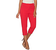 Susan Graver Coastal Stretch Capri Pants - A277816