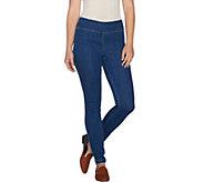 LOGO by Lori Goldstein Petite Stretch Denim Skinny Jeans - A281116