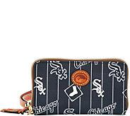 Dooney & Bourke MLB Nylon White Sox Zip Around Phone Wristlet - A281716