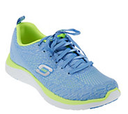As Is Skechers Stretch Knit Lace-up Sneaker - Chimera - A283516