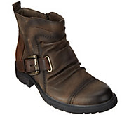 Earth Leather Ankle Boots w/ Buckle Detail - Jericho - A284116