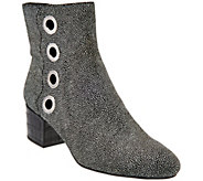 As Is LOGO by Lori Goldstein Ankle Boots with Grommet Detail - A290016