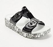Alegria Leather T-Strap Slide Sandals - Vita - A290116