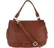 Plinio Visona Lamb Leather Convertible Satchel Handbag - A301016