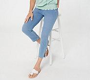 Belle by Kim Gravel Flexibelle Pull-On Cropped Jeans Petite - A301516