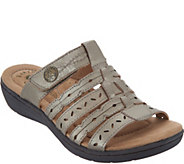 Earth Origins Leather Multi-Strap Slide Sandals - Alaina - A304716