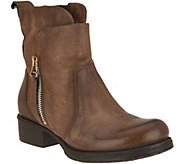 As Is Miz Mooz Leather Ankle Boots w/ Zipper Detail- Nimble - A306216