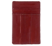 Lee Sands Mens Eelskin Credit Card Holder - A323916