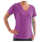 Ryka Womens Fit Short Sleeve V-Neck Top - A326916