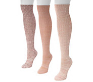 MUK LUKS Womens Three-Pair Pack Marl Knee-HighSocks - A355916