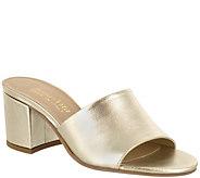 Bella Vita Peep Toe Leather Slide Sandals - Mel - A360316
