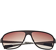 Breed Atmosphere Titanium and Carbon Fiber Brown Sunglasses - A361216