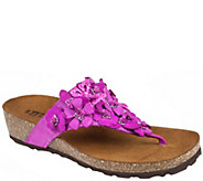 White Mountain Leather Thong Sandals - Bermuda - A412316