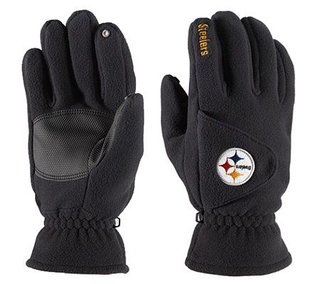 Nfl Pittsburgh Steelers Winter Gloves Qvc Com