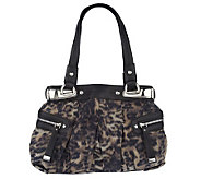 B. Makowsky Animal Print Fabric Tote Bag with Side Pockets - A201617