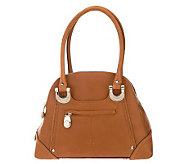 B. Makowsky Candice Glove Leather Zip Top Satchel - A212817