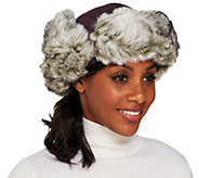 Trapper Hat with Ear Flaps in Faux Fur Trim - A213017