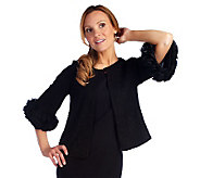 Joan Rivers Ruffle Sleeve Jacket - A215817