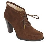 Isaac Mizrahi Live! Suede Lace-Up Ankle Boots - A219717