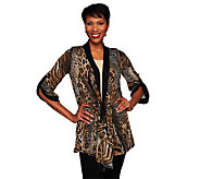 Attitudes by Renee Animal Print Jacket with Drawstring - A228617