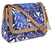 Isaac Mizrahi Live! Bridgehampton Printed Canvas Crossbody - A251217